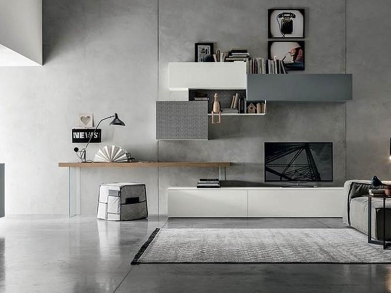 Parete attrezzata soggiorno tomasella in stile design a for Scrivania soggiorno