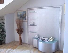 soggiorno porta tv classico finitura foglia argento