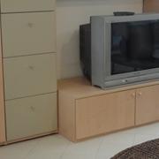 Parete porta tv in laminato legno e laccato