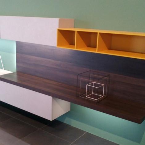 Soggiorno mobile soggiorno porta tv libreria laminato - Laminato per mobili ...