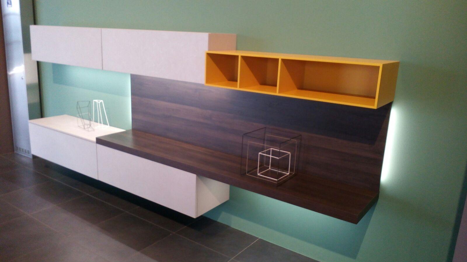 Soggiorno mobile soggiorno porta tv libreria laminato - Mobile soggiorno moderno offerte ...