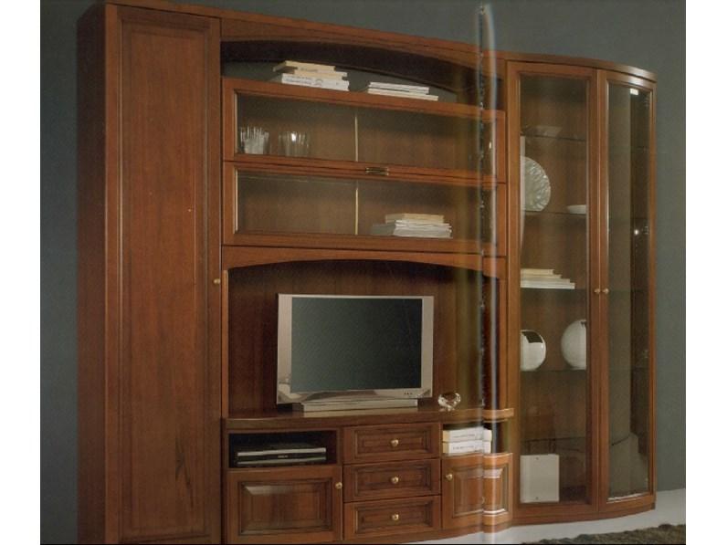 Parete soggiorno classica in massello - Parete soggiorno classica ...