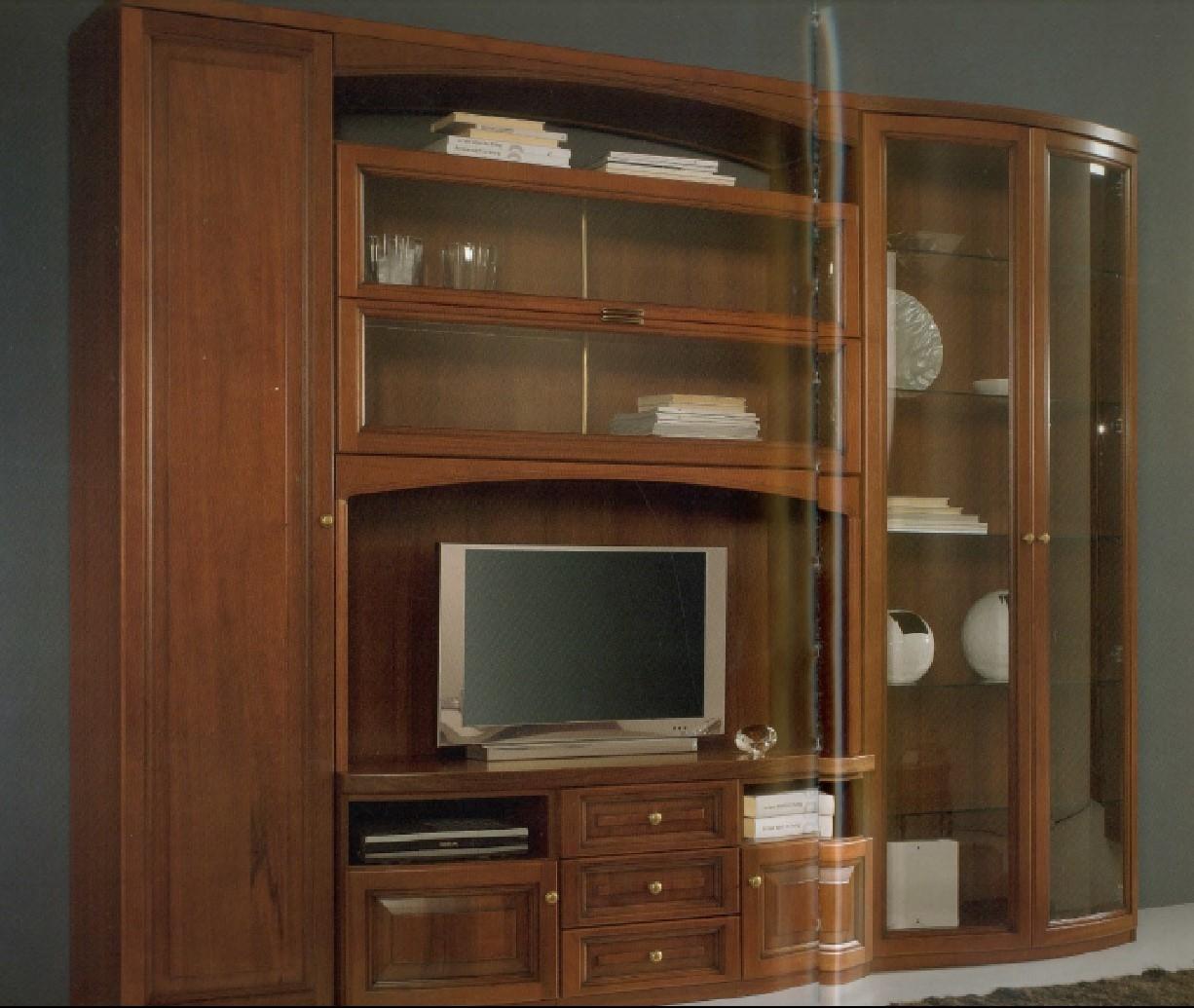 Parete soggiorno classica in massello soggiorni a prezzi - Parete soggiorno classica ...