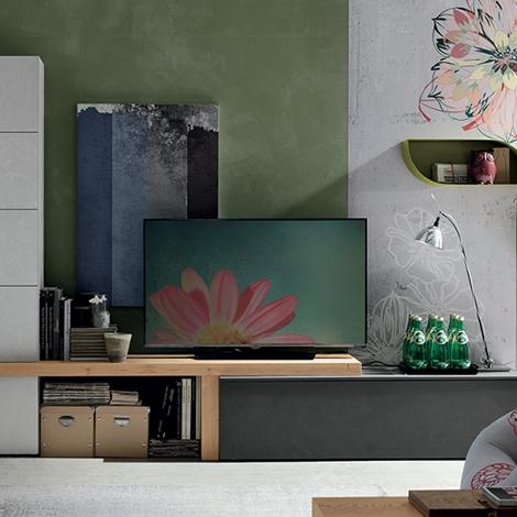 Parete soggiorno di design tomasella scontata del 33 for Rivenditori tomasella