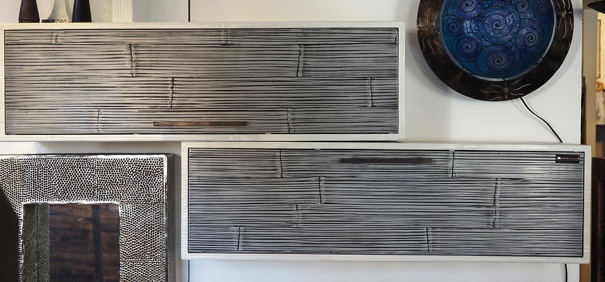 parete soggiorno minimal etnico moderno in legno e crash ...