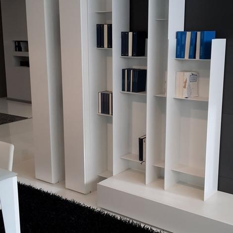 Parete soggiorno people by pianca laccato bianco opaco for Visma arredo ufficio