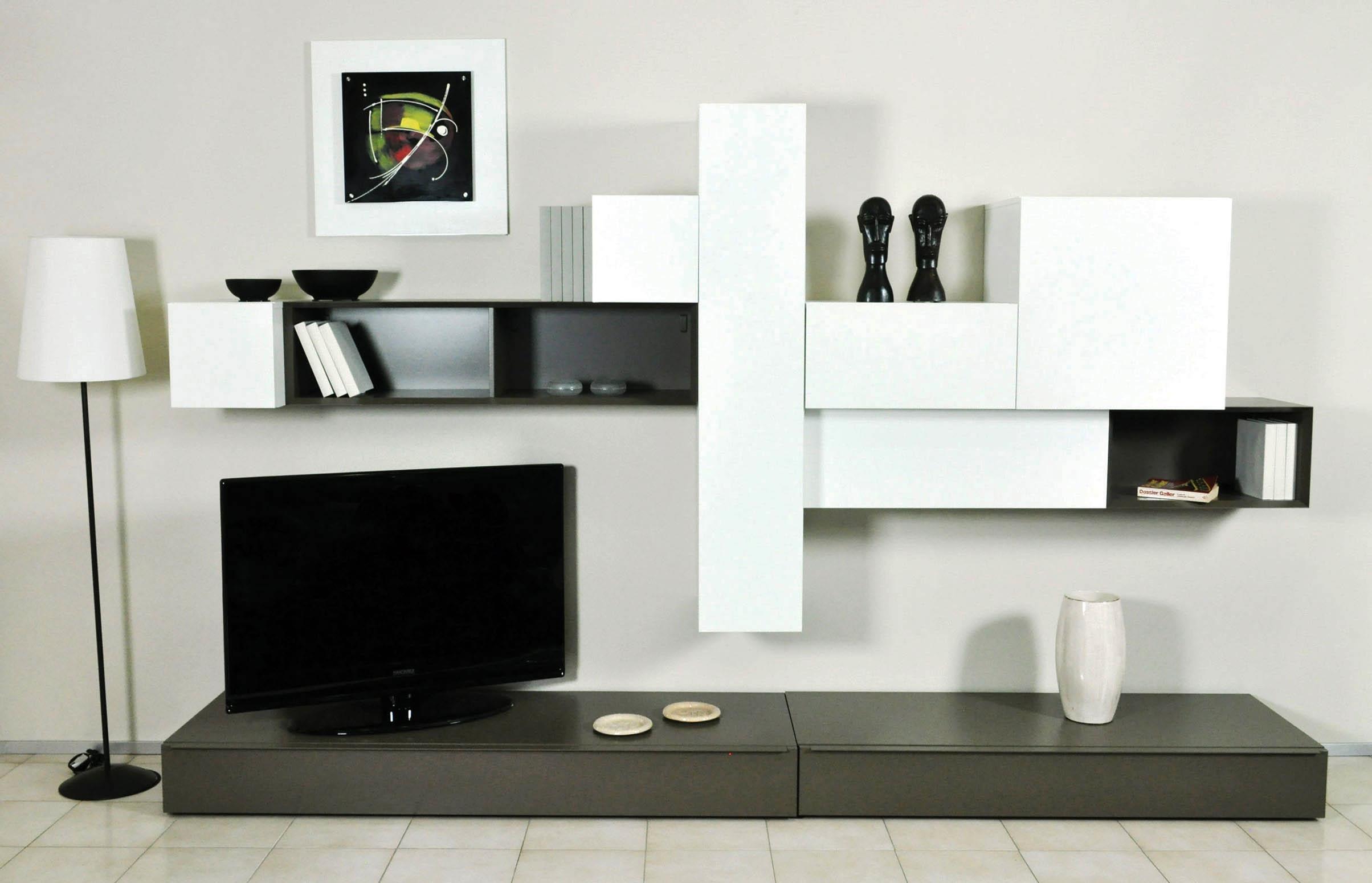 Parete soggiorno pianca componibile moderno prezzo saldo - Parete soggiorno moderno ...