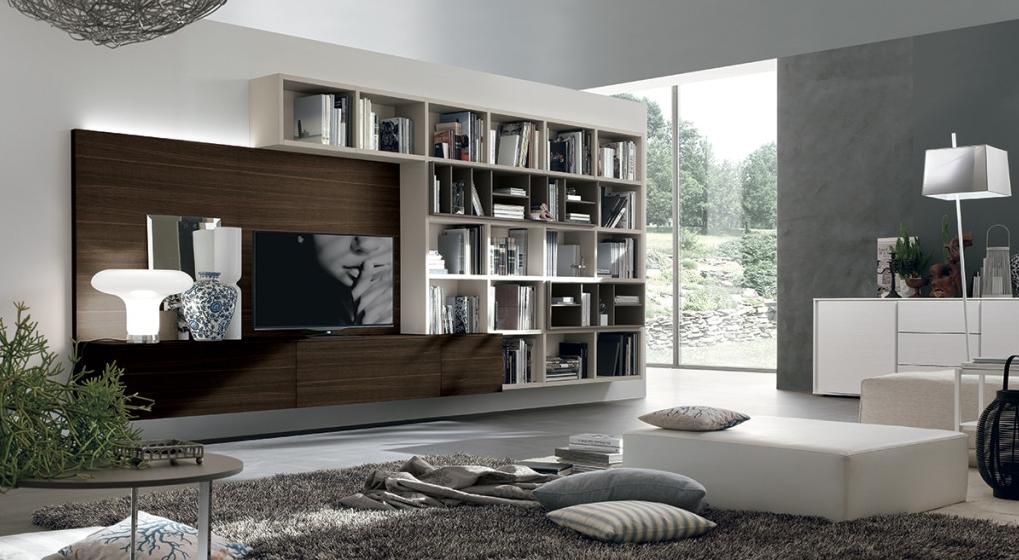 Parete soggiorno porta tv a033 scontata del 29 - Porta tv a parete sospesi ...