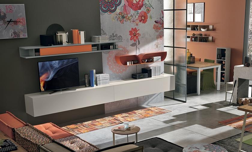 Parete soggiorno tomasella di design scontata del 34 for Rivenditori tomasella