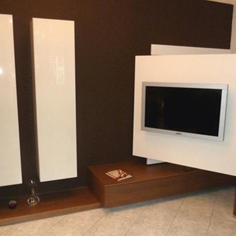 Parete tv fimar serie link in noce torchio e laccato opaco - Porta tv a parete orientabile ...
