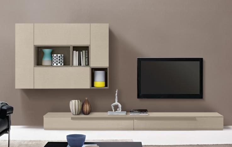 Parete tv mod luce scontata 13295 soggiorni a prezzi scontati - Montaggio tv a parete ...