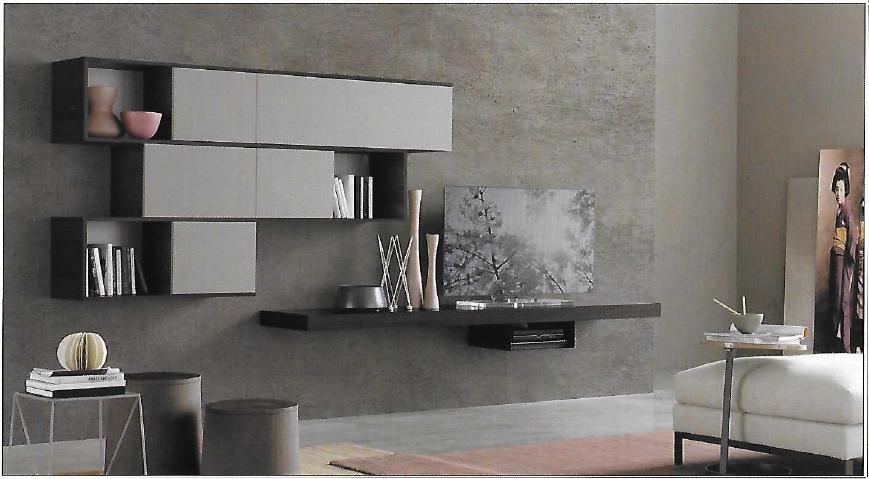 Pareti attrezzate 2 moderne scontata del 26 soggiorni a prezzi scontati - Soggiorni pareti attrezzate moderne ...