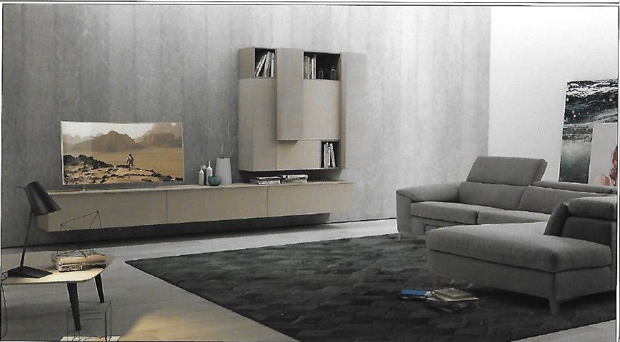 Pareti attrezzate moderne scontata del 18 soggiorni a for Pareti tv moderne