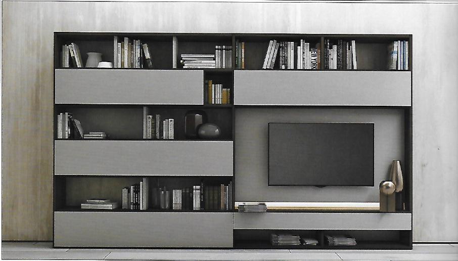 Pareti attrezzate moderne scontata del 22 soggiorni a for Mobili pareti attrezzate moderne
