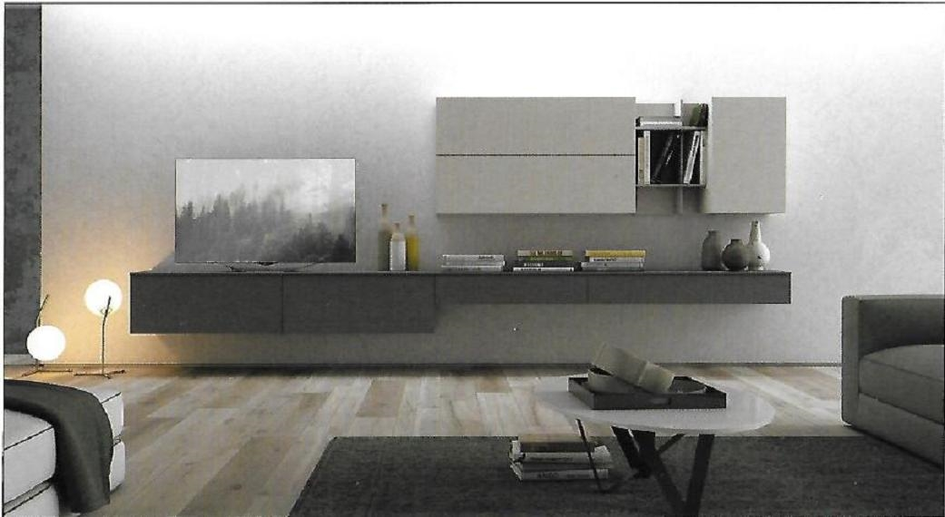 Pareti attrezzate moderne scontata del 25 soggiorni a for Mobili pareti attrezzate moderne