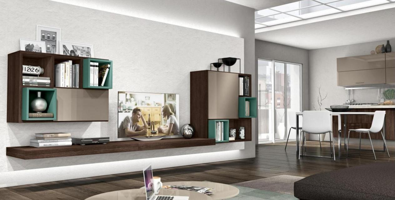 Pareti attrezzate scontata del 28 soggiorni a prezzi for Pareti attrezzate moderne colorate