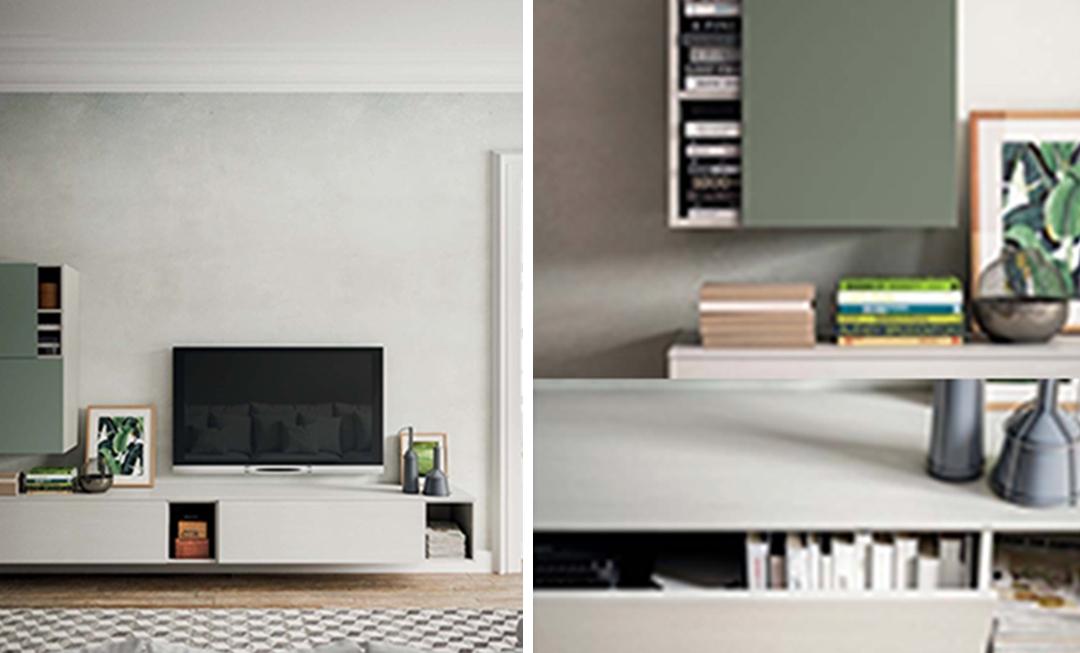 Porta televisione moderno sospeso da terra soggiorni a - Porta tv da terra ...