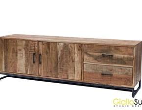 Porta tv Artigianale Etnico legno&ferro SCONTO 34%
