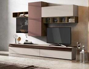 Porta tv Artigianale in laccato opaco Mottes mobili abaco 17 in Offerta Outlet