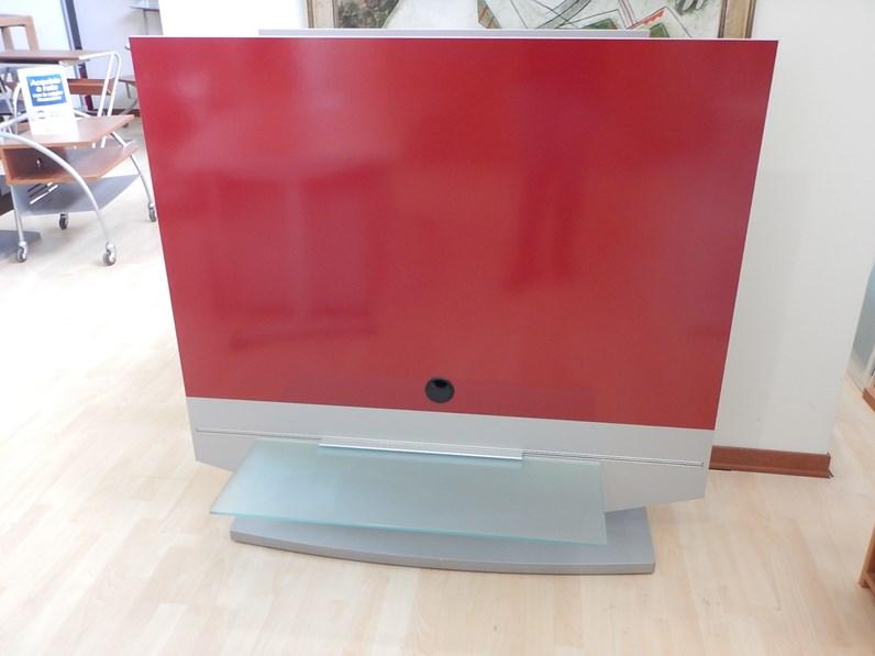 Porta tv artigianale in laminato lucido rosso in offerta for Fornasari arredamenti