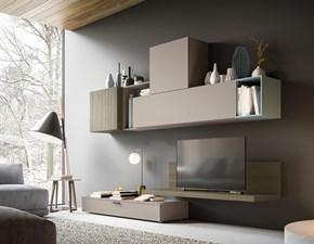 Porta tv Artigianale in laminato materico Orme day 05 mottes mobili in Offerta Outlet