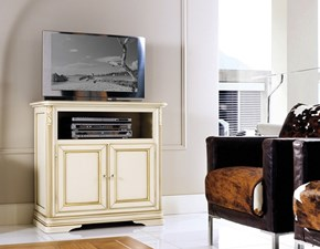 Porta tv Artigianale Mobile-porta-tv patinato avorio scontato del 30% SCONTO 30%