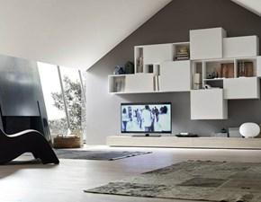 Porta tv Artigianale Mottes mobili composizione modulo 16 PREZZI OUTLET