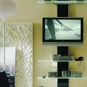 Porta Tv Bontempi Casa modello Voilà. Composizione in cristallo comprensiva di un kit porta televisione.