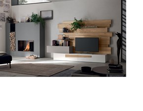 Porta tv Design rovere Maronese in legno in Offerta Outlet