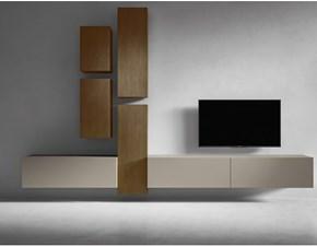 Porta tv I-modulart 6 Presotto italia in laccato opaco a prezzo Outlet