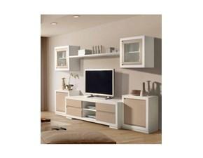 Porta tv in laccato opaco stile classico Indiana Artigianale