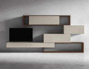 Porta tv in laccato opaco stile design Crossart Presotto italia