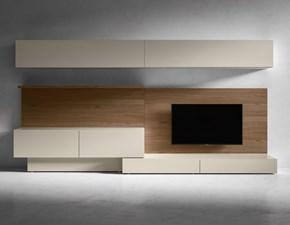 Porta tv in laccato opaco stile design I-modulart 6 Presotto italia