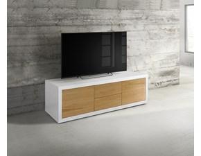 Porta tv in laccato opaco stile design Modello rosa Artigianale