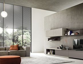 Porta tv in laccato opaco stile moderno Day 02 mottes mobili