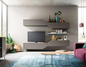 Porta tv in laminato opaco stile moderno Light day 02 mottes mobili Artigianale