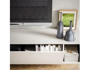 Porta tv in laminato opaco stile moderno Light day 07 mottes mobili  Artigianale
