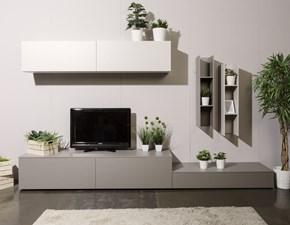 Porta tv in laminato opaco stile moderno Soggiorno a terra Cinquanta3