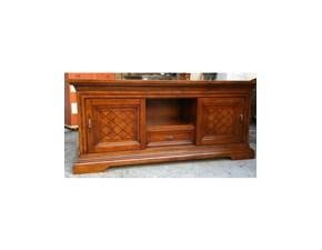 Porta tv in legno stile classico Creta Artigianale
