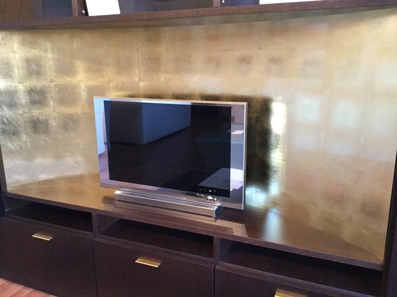 Porta Tv Foglia Oro.Porta Tv In Legno Stile Classico Foglia Oro Besana