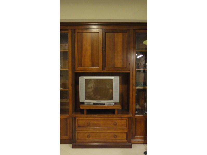 Porta Tv Legno Classico.Porta Tv In Legno Stile Classico Soggiorno Artigianale