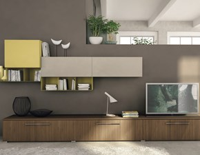 Porta tv in melamminico stile design Living a terra Lube cucine