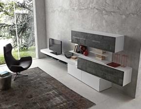 Porta tv in pietra stile design Inclinart Presotto italia