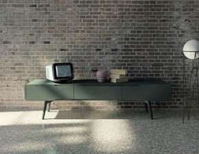 Porta tv in stile design Mirandola in laccato opaco Offerta Outlet
