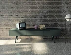 Porta tv in stile design Mirandola in laccato opaco Offerta Outlet