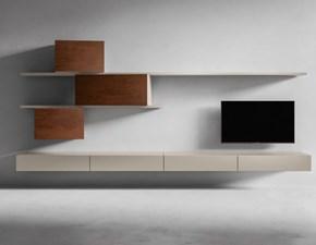 Porta tv in stile design Presotto italia in laccato opaco Offerta Outlet