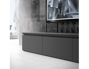 Porta tv in stile design Siloma in laminato materico Offerta Outlet