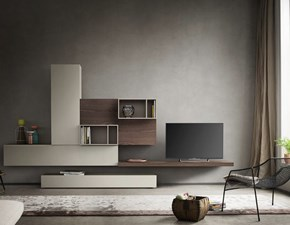Porta tv in stile moderno Napol in legno Offerta Outlet