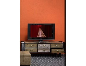 Porta tv in stile moderno Outlet etnico in legno Offerta Outlet