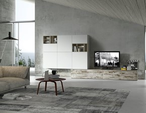 Porta tv in stile moderno Siloma in melamminico Offerta Outlet